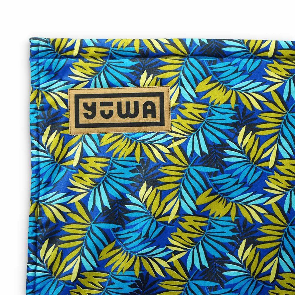Zoom sur tapis de yoga artisanal Tijuca Yuwa fait en France
