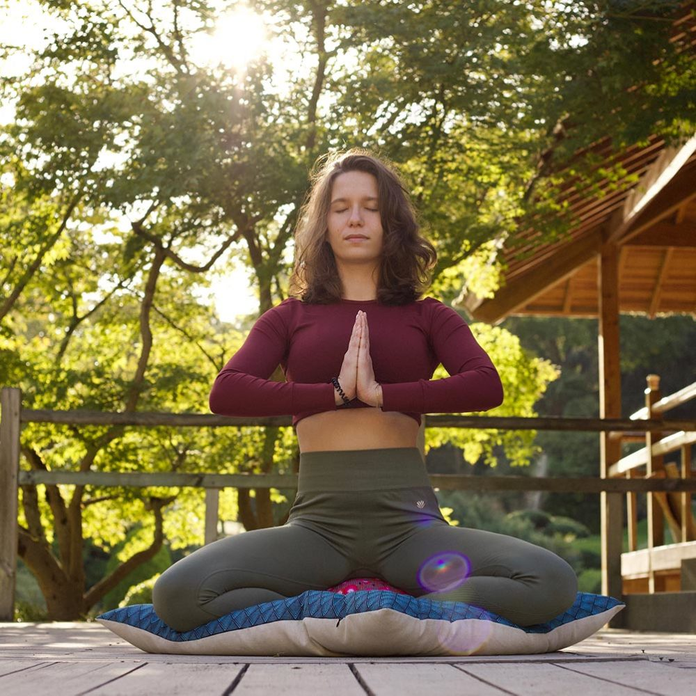 Coussin de méditation zabuton fait en France Yuwa