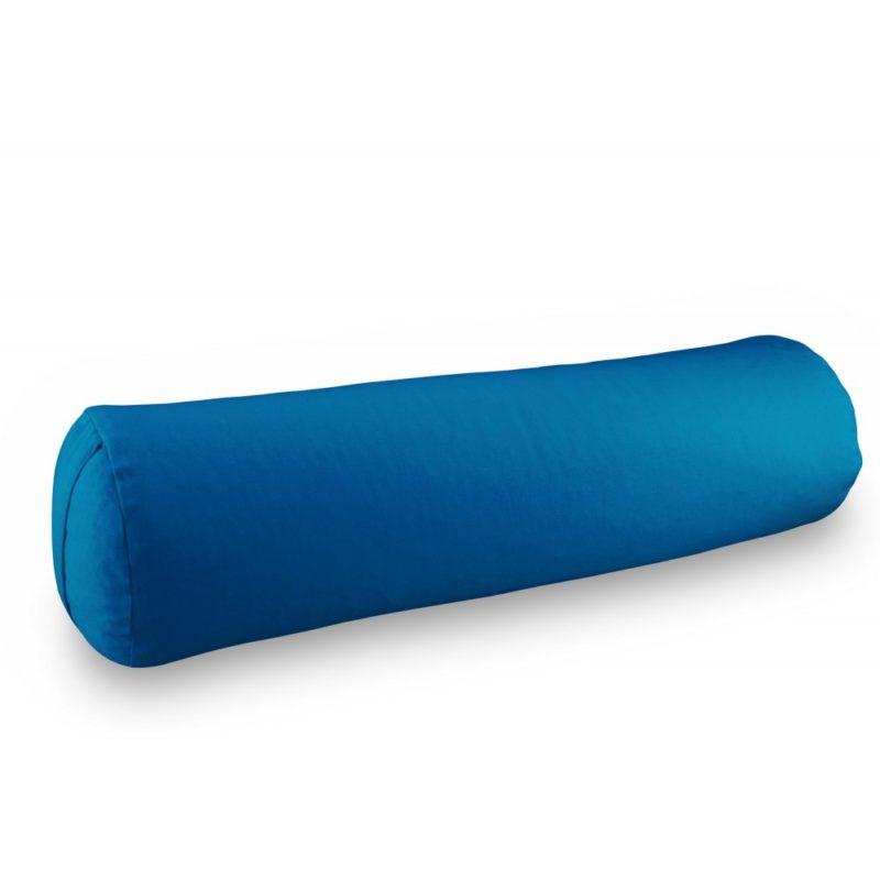 bolster Yuwa bleu artisanal fait en France avec des matériaux éco-responsables