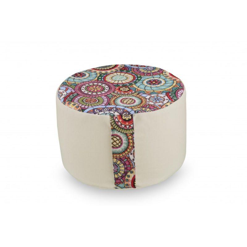 Rondo mandala - coussin de méditation rond