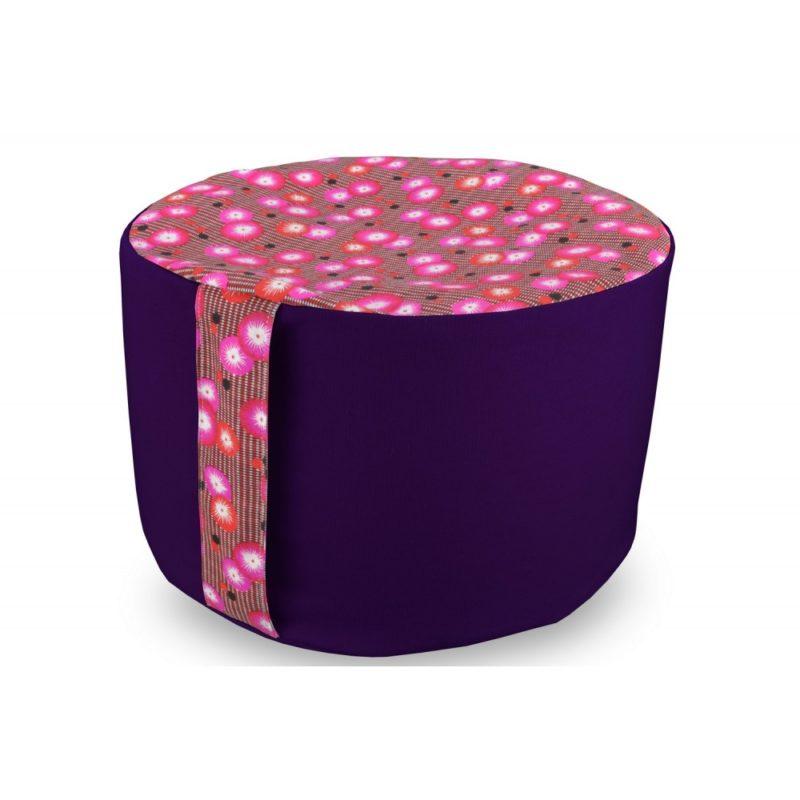 Rondo petit pan coquelicot bicolore violet Yuwa artisanal et éco-responsable méditation