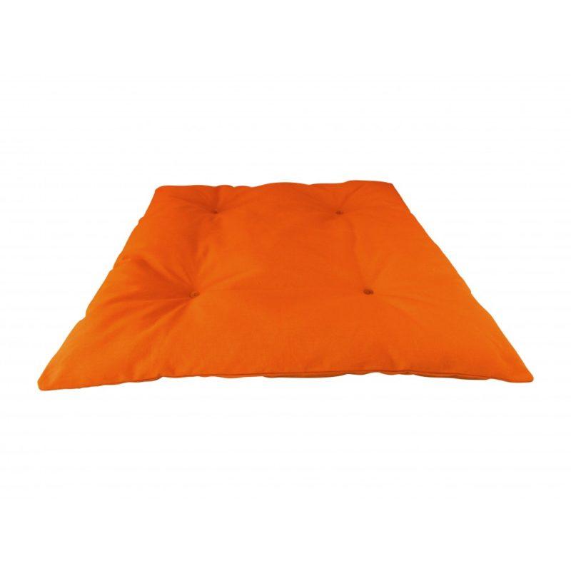 Zabuton orange Yuwa artisanal éco-responsable fait en France