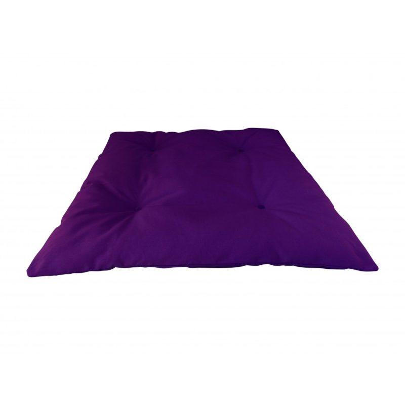 Zabuton violet Yuwa artisanal éco-responsable fait en France