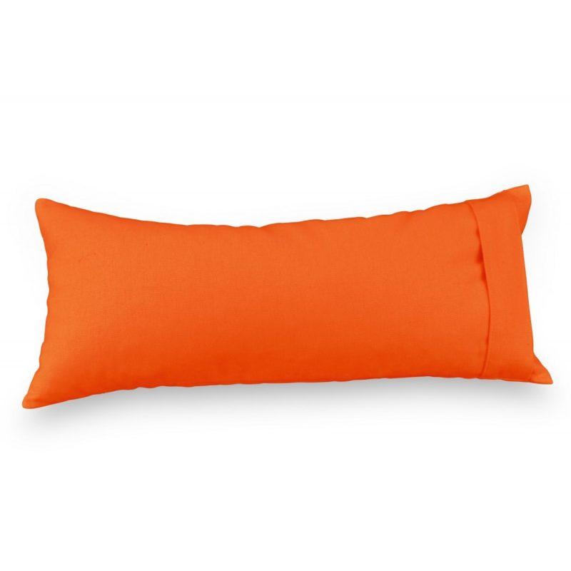 Coussin de méditation orange - Zafu de voyage - Zafu de voyage Yuwa fabriqué en France