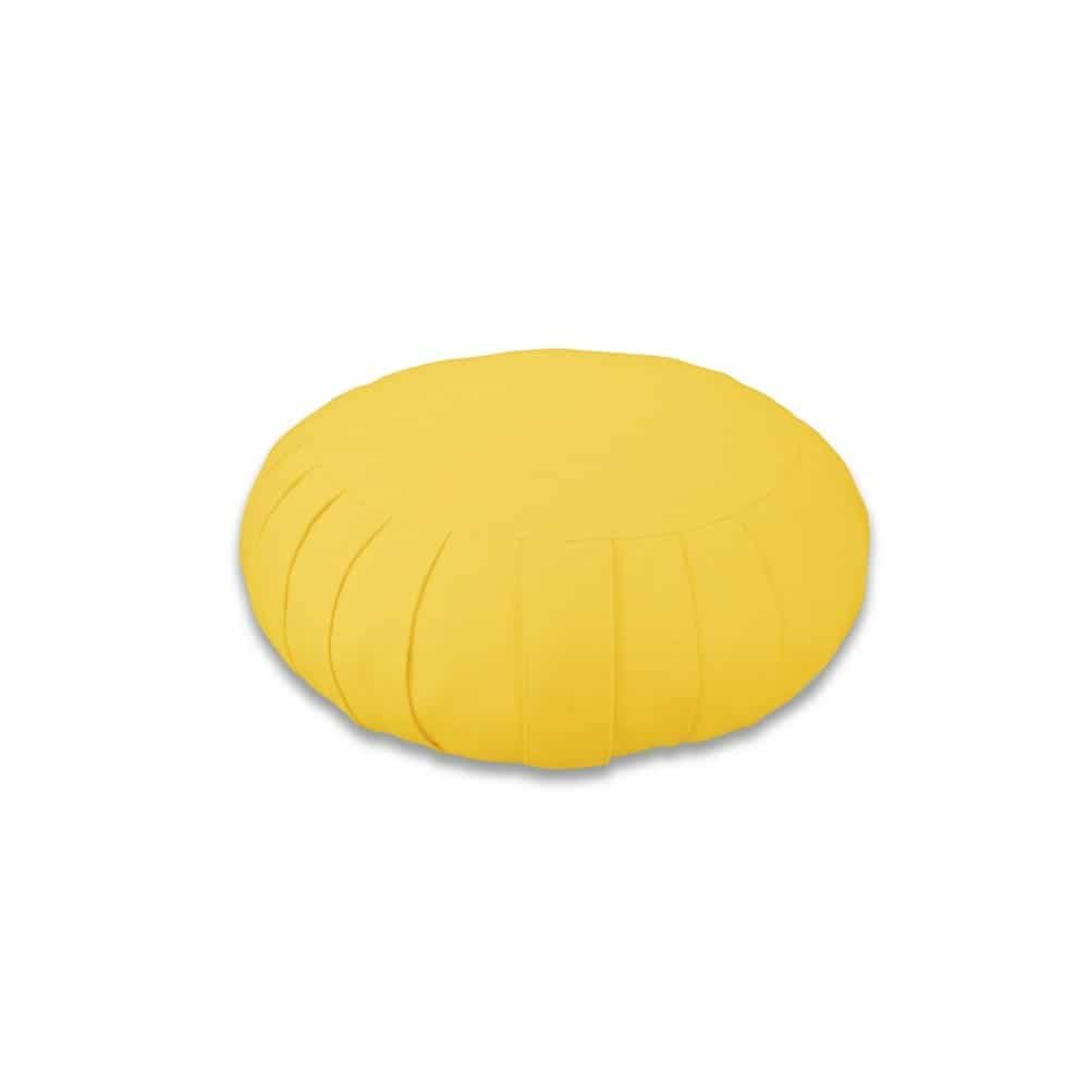 Zafu Yuwa - Zafu jaune fabriqué en France - Zafu Responsable