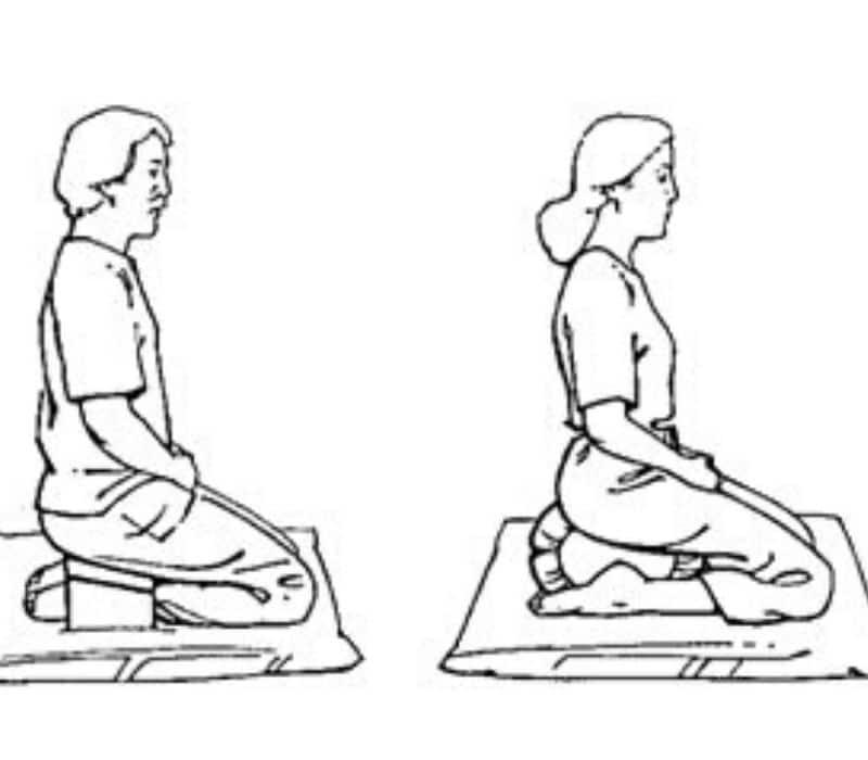 position méditation à genoux